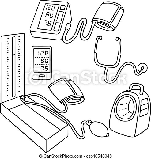 Blood Pressure Monitor Clipart Vector And Illustration 1375 Blood