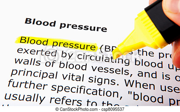 Blood pressure - csp8095537