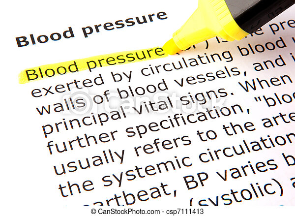 Blood pressure - csp7111413