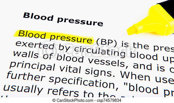 Blood pressure - csp74579834