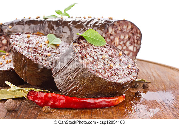 blood sausage with spice - csp12054168