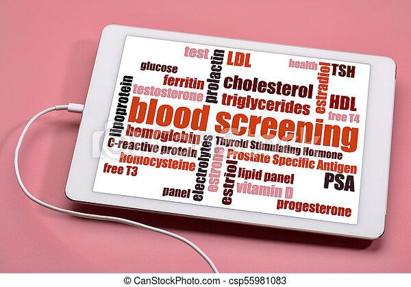 blood screening word cloud - health concept - csp55981083