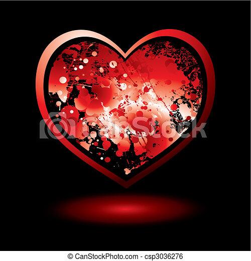 blood spalt valentine - csp3036276