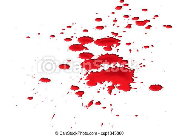 Blood splat - csp1345860