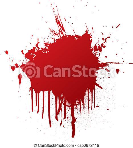 blood splat - csp0672419