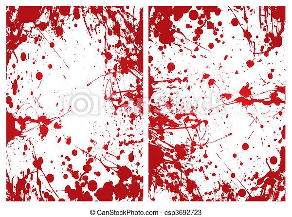blood splat frame - csp3692723