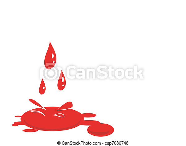 blood splat vector - csp7086748