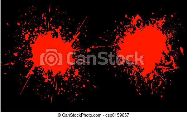 Blood splats - csp0159657