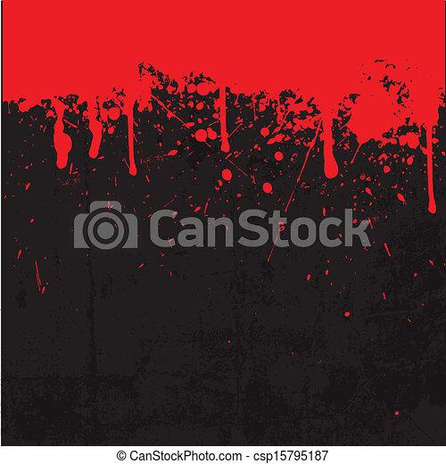 Blood splatter background - csp15795187