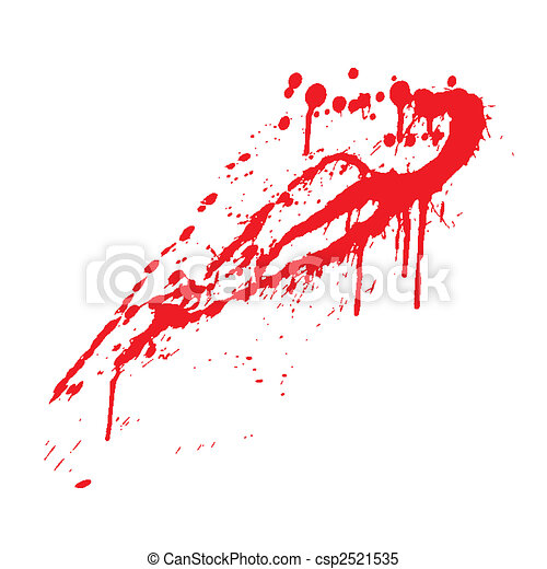 blood splatter - csp2521535