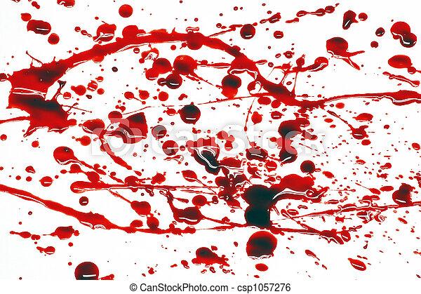 Blood splatter - csp1057276
