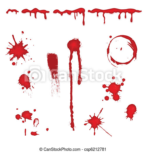 Blood splatter - vector - csp6212781