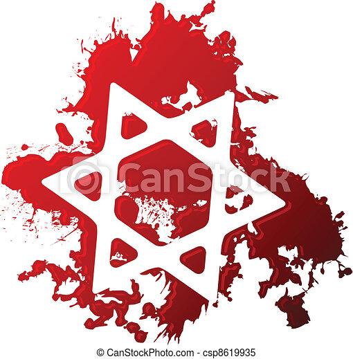 Blood star of david - csp8619935