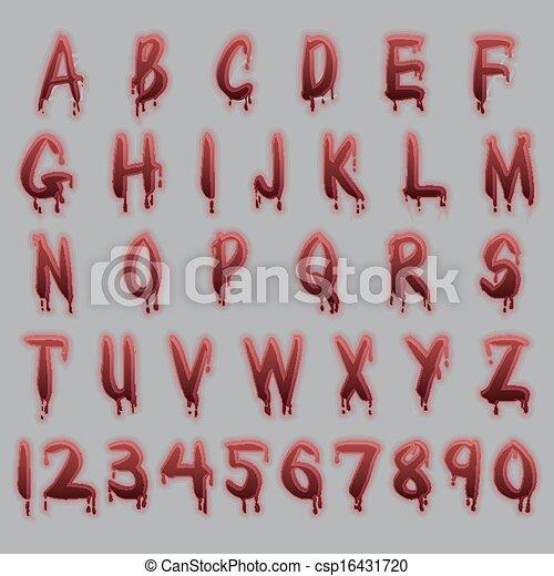 Blood text - csp16431720