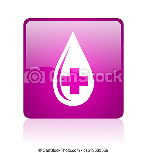 blood violet square web glossy icon - csp13633559