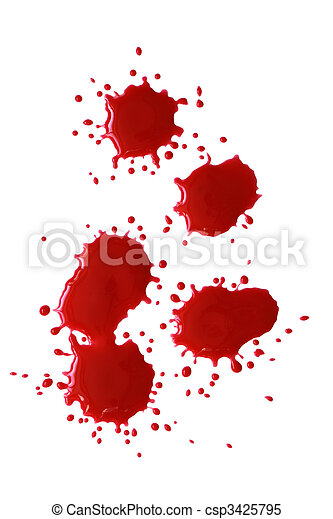 Bloody Red Blots - csp3425795