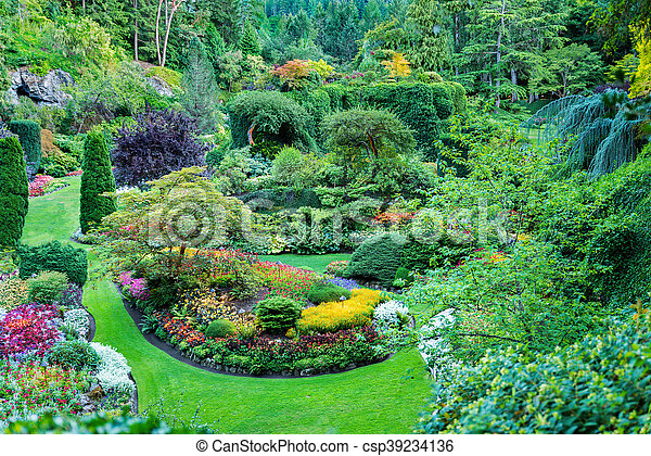 Blooming gardens in british columbia. Lush, ornate canadian gardens ...