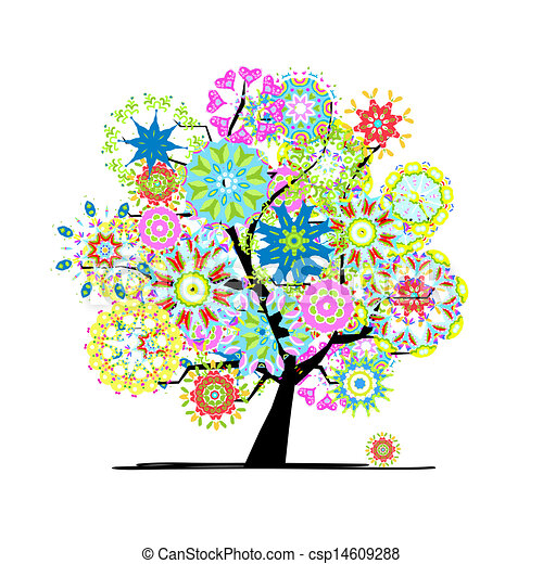 Blooming tree for your design - csp14609288