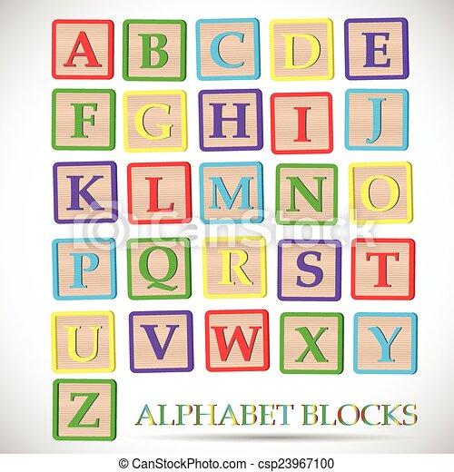 Ilustración del bloque alfabeto - csp23967100