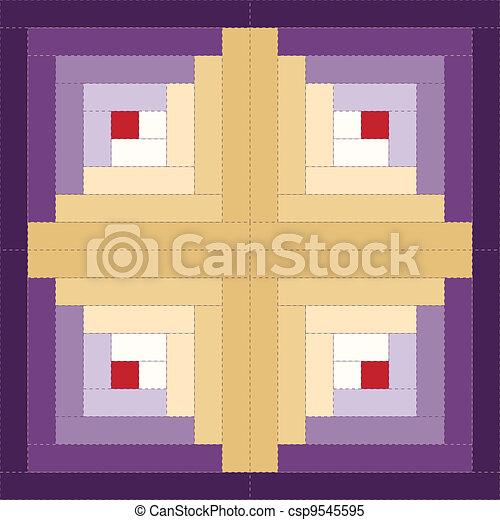 Bloque de Quilt, patrón de cabina - csp9545595