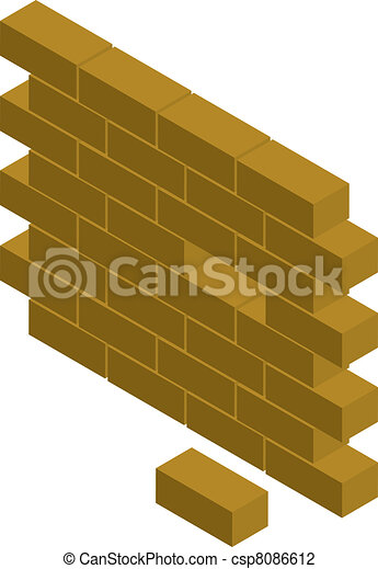 La pared del bloque - csp8086612