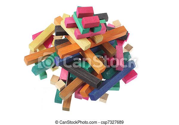 Construcciones Wooden - csp7327689