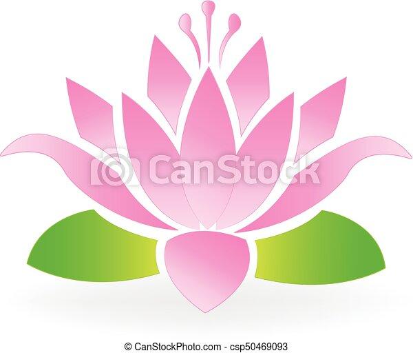 Blossom lotus flower logo - csp50469093