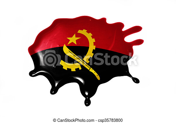 blot with national flag of angola - csp35783800