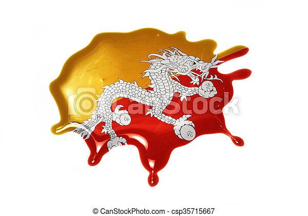 blot with national flag of bhutan - csp35715667