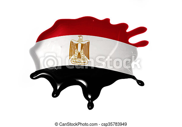 blot with national flag of egypt - csp35783949