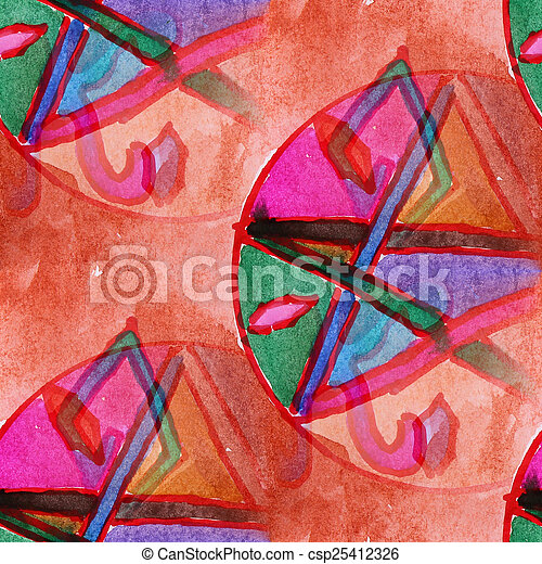 blots color picture watercolor painting seamless background - csp25412326