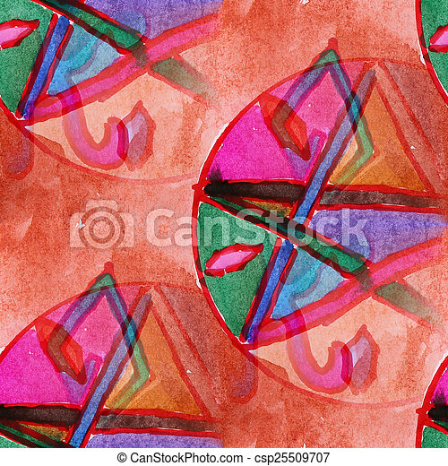 blots color picture watercolor painting seamless background - csp25509707