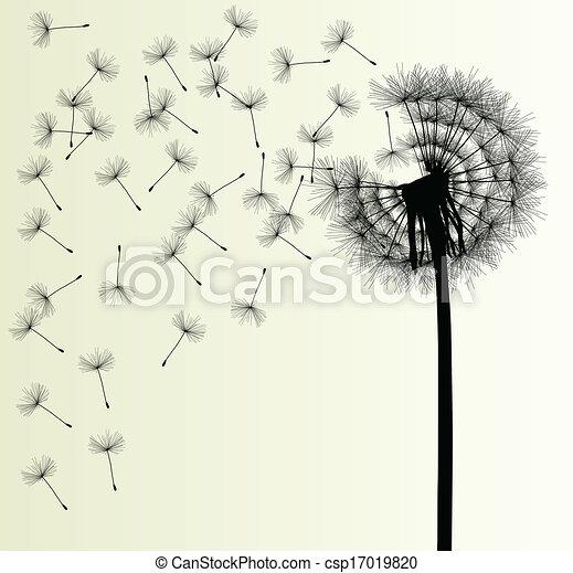Blow Dandelion vector background - csp17019820