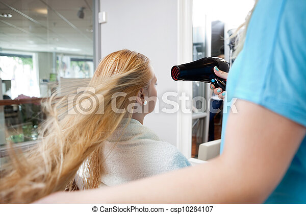 Blow drying Hair - csp10264107