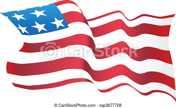 blowing american flag vector search clip art illustration rh canstockphoto com america flag vector free waving american flag vector free download