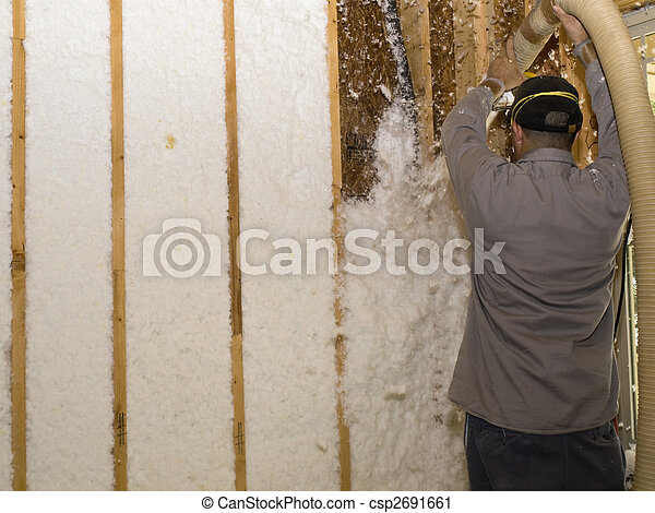 Blowing Insulation Overhead - csp2691661