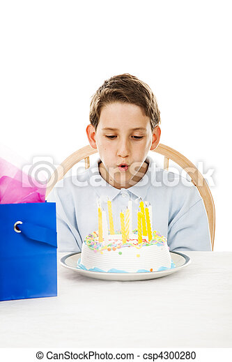 Blowing Out Birthday Candles - csp4300280