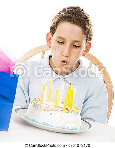 Blowing Out Candles - csp4073170