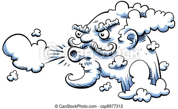 Blowing wind - csp8977312
