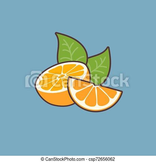 blu, arance, fondo - csp72656062