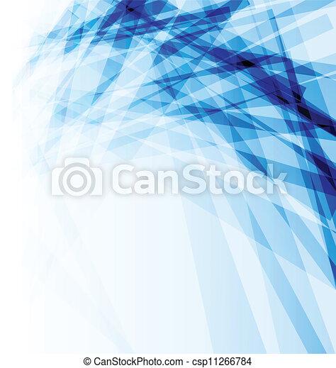 blu, astratto, affari, opuscolo, fondo - csp11266784