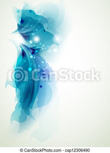 blu, astratto, elementi - csp12306490
