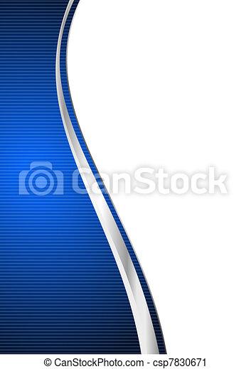 blu, astratto, fondo - csp7830671