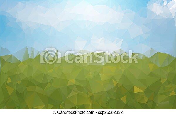 blu, astratto, sfondo verde - csp25582332