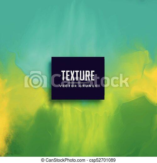 blu, astratto, struttura, acquarello, sfondo verde - csp52701089