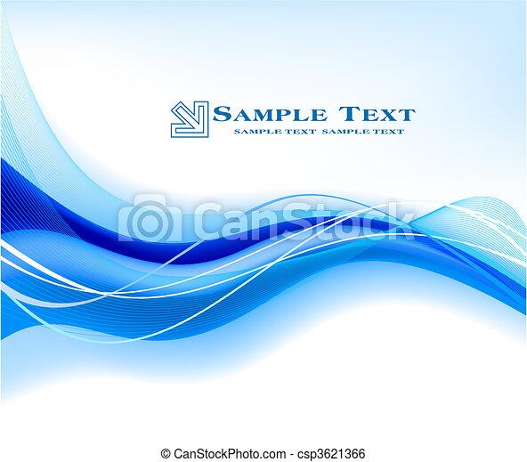 blu, astratto, vettore, fondo - csp3621366