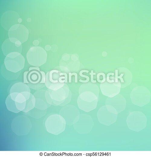 blu, bokeh, verde, jentle, fondo - csp56129461