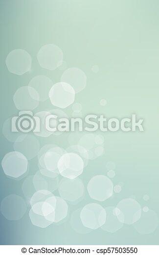 blu, bokeh, verde, jentle, fondo - csp57503550