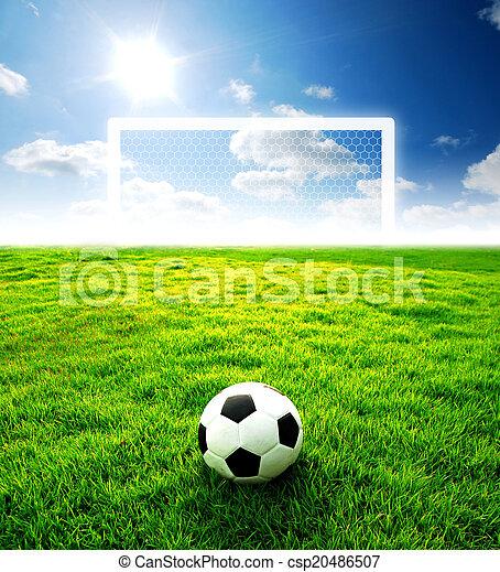 Blu Calcio Sport Stadio Football Zona Cielo Gioco Sfondo