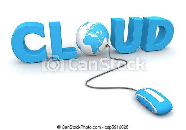 blu, curiosare, globale, -, topo, nuvola - csp5916028